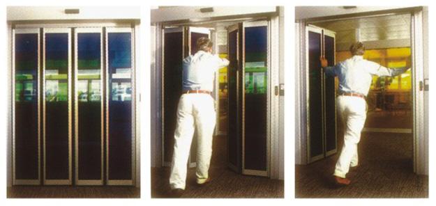 Πτυσσόμενες αυτόματες πόρτες πανικού